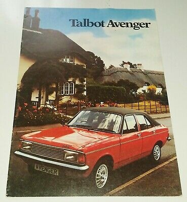 1980 Talbot Sales Brochure Book Horizon Sunbeam Avenger
