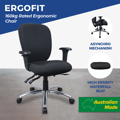 Office Chairs Ergonomic Seat Slide Adjustable Posture Lumbar & Arms 160kg Rated