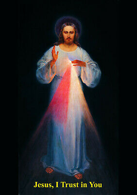 Divine Mercy Image  A4 size - postcard thick - Excellent for framing Two for £4