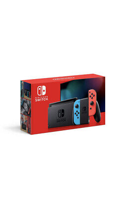 Nintendo Switch Console (2019)| Neon Blue/Red Joy-Con PLUS Animal Crossing