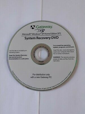 """GateWay System Recovery DVD (Windows XP Home Edition SP"""")"""