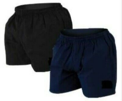 Men's Cotton Drill Rugby Shorts Kiwi Style (pockets) elasticated and draw cord.