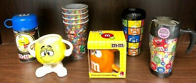 Lot of 4 M&M's Collectible Cups & Mugs! All BRAND NEW!
