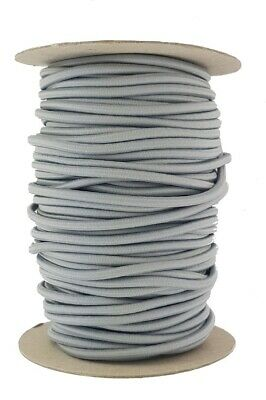 Elastic Cord 5 mm round sold in lengths of 2,3,4,5, Metres Light Grey