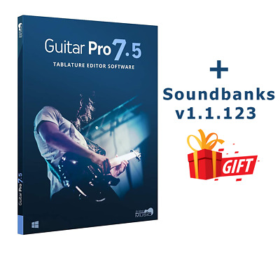🔥New Guitar Pro 7.5 + Soundbanks🎁 Full Version✅ Full Activated✅ Fast Delivery⚡