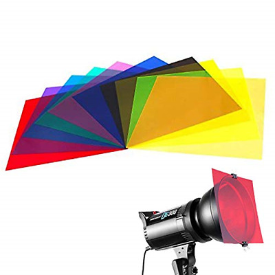 10 Pieces Colored Overlays Light Gels Transparency Color Film Plastic Sheets Gel