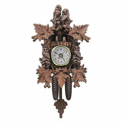 Antique Mini Cuckoo Clock Vintage Forest Quartz Swing Decor Wall Alarm Art N5L6
