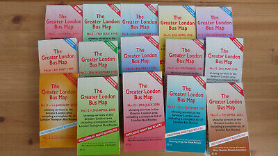 The Greater London Bus Map - 32 issues listed (1995-2014) - £3 per map