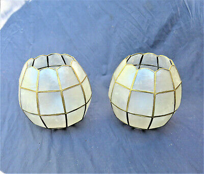 pair Tiffany style in original mother of pearl, spare parts chandeliers sconces