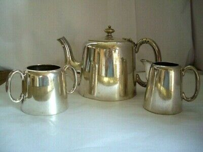 Vintage MAPPIN & WEBB ~ Prince's Plate ~ Silver Plated Teapot~jug & sugar bowl