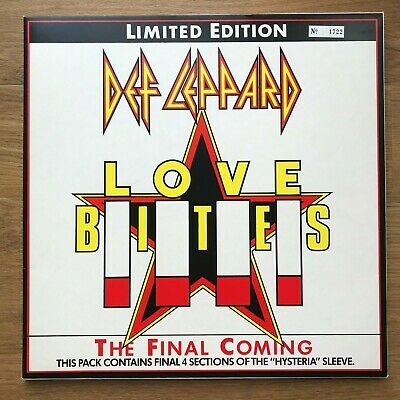 "Def Leppard Love Bites Box Set Limited Numbered Edition Vinyl 12"" Inch Single"