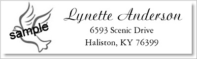 400 DOVE DESIGN Personalized Return Address Labels  1/2 x 1.75 Inch