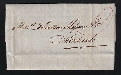 Canada 1827 QUEBEC FLEURON Stampless Folded Letter to Montreal