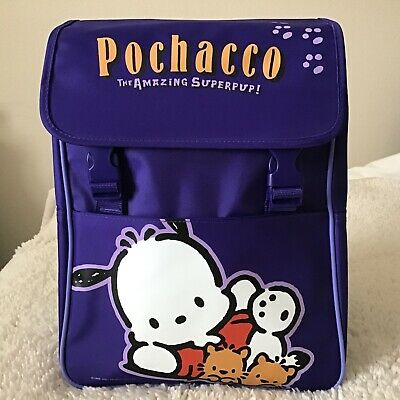 NWOT Sanrio 2001 Pochacco SuperPup Purple Backpack