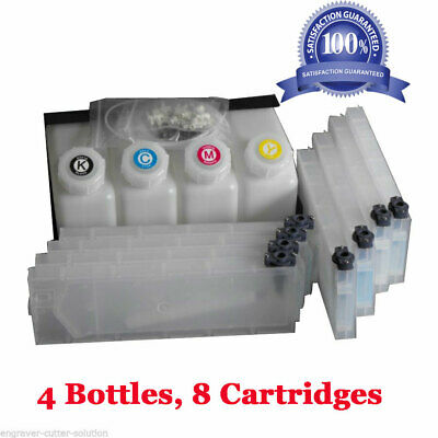 Roland Bulk Ink System Continuous for Mimaki Printers -- 4 Bottles, 8 Cartridges