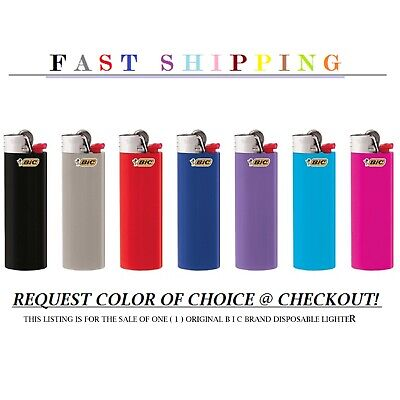 Bic Classic Cigarette Lighter *FULL-SIZE* One Piece-_-Assorted Colors Full Size