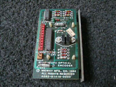 NOS Gorf trigger switch with light bulb pcb.