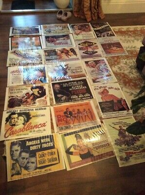 21 Laminated Copies Of Movie Posters, Size approx 40cm X 30cm, Job Lot