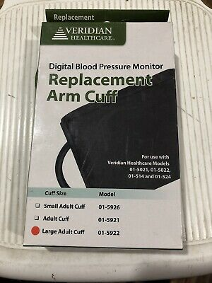 VERIDIAN DIGITAL BLOOD PRESSURE MONITOR REPLACEMENT ARM CUFF LARGE Adult 01-5922