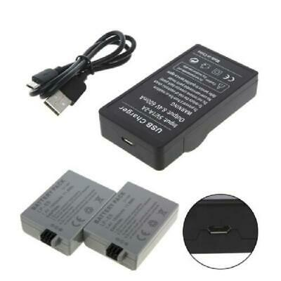 LP-E5 LCD Dual Port USB Battery 2Port Charger for Canon EOS 1000D 500D 450D Kiss