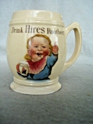 3 different Hires Root Beer Mugs  Original Vintage pre-1920,s