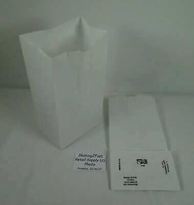 Qty 25 #4 Paper Bleached White Grocery Merchandise Retail Shopping Bags