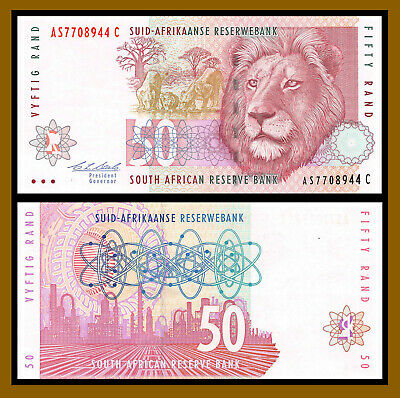 South Africa 50 Rand, 1992 P-124b Sig #7 Extra Fine (XF)