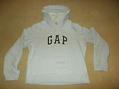Gap Stretch Light Gray Pull-Over Hoodie Girls Size Large LG L