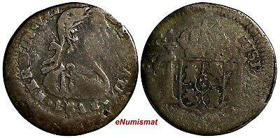 War Of Independence ZACATECAS Ferdinand VII Silver 1818 ZM AG 1/2 Real KM# 73.1