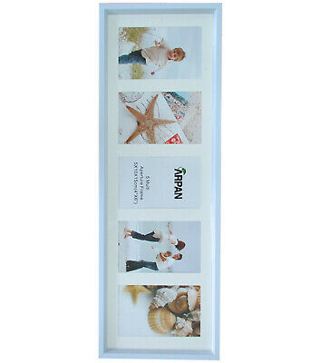 Multi Aperture Photo Picture Frames Holds 5 Photos White For Gift