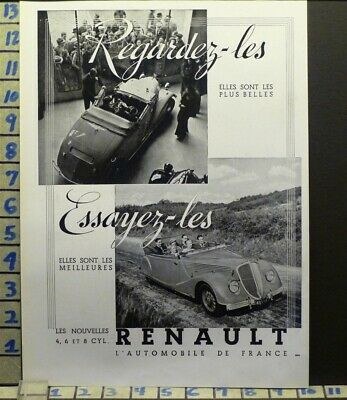 1935 Renault Cabriolet French Car Auto Sport Motor  Photo   Ab62