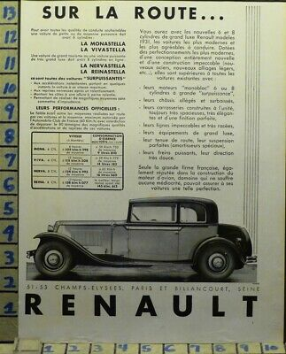 1931 Renault Cabriolet French Car Auto Sport Motor Travel    Ab73