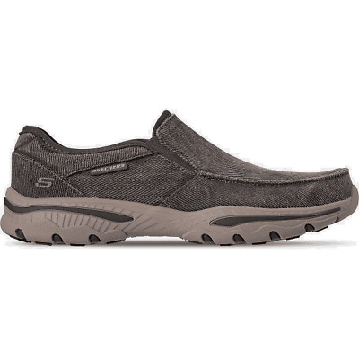 SKECHERS CRESTON MOSECO Mens Casual Slip On Charcoal US9 M