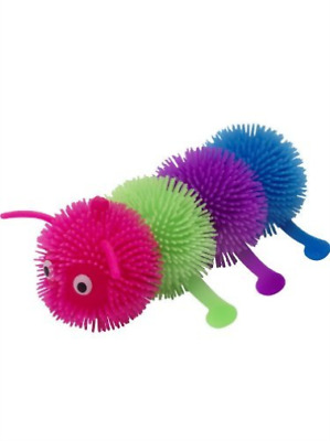 Puffer Ball Caterpillar, Multi-Coloured, 15cm / 6in, with Light Up, COST-ACC NEU
