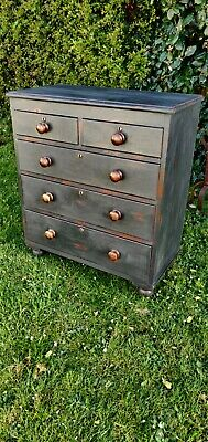 Victorian Painted Distressed Chest Of Drawers