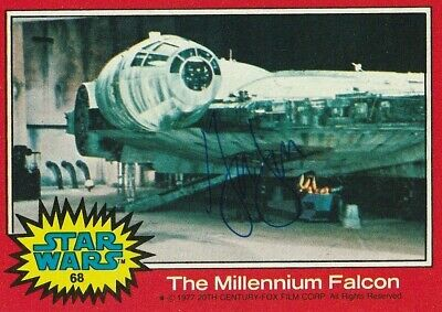 Harrison Ford Autographed Star Wars Trading Card. Authenticated.