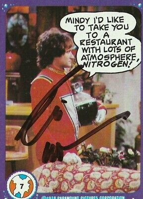 Robin Williams Autographed Mork & Mindy Trading Card. Authenticated.