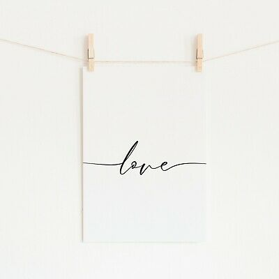 Wall Art Prints Pictures Posters Home Living Room Bedroom Bathroom Kitchen Love