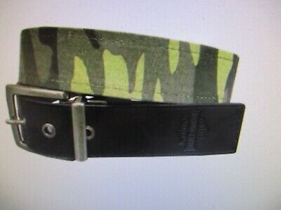 New Harley Davidson Men Outback Belt Reversible Camo Black Size 38