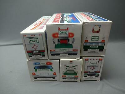 Hess Truck 1992- 1997 Lot Of 6 Police Car Helicopter Racers Firetruck