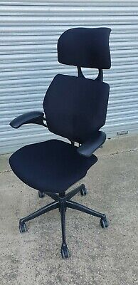 Humanscale freedom headrest high back Office Chair Newly reupholstered black