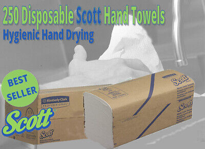 250 SCOTT Hygienic Large Soft Paper Hand Towels Kimberly-Clark