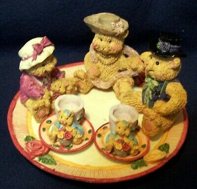 Miniature Tea Set, Bear Collection, 10 pieces, Ceramic, Hand Painted
