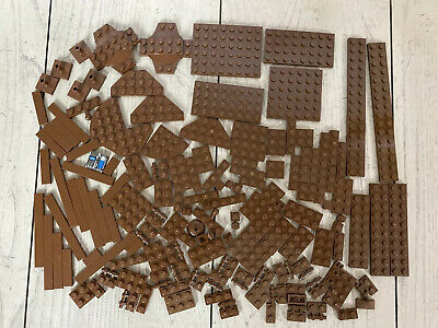 LEGO 10 NEW DARK BROWN ROCK PANEL WALLS 2X4X6 BULK PARTS LOT PIECES