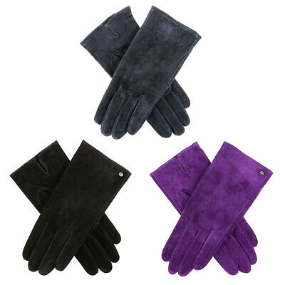 Womens Dents Emily Lightweight Suede Leather Gloves
