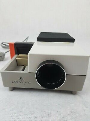 Agfacolor 50 Vintage Slide Projector With Carry Case