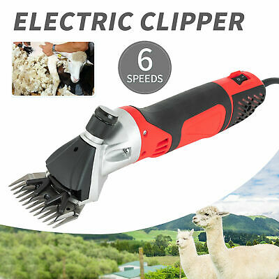 500W 6 Speeds Electric Supplies Sheep Goat Shears Animal Shave Grooming Clipper