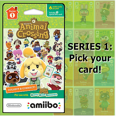 Animal Crossing Amiibo Cards Series 1 #001-100 US/NA Version Authentic OOP MINT!