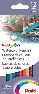 Pentel Arts Watercolour Pencil Set - Assorted (Pack of 12) Pack of 12