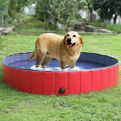 pedy Largest Foldable Pet Dogs Cats Paddling Pool Puppy Swimming Bathing Tub ...